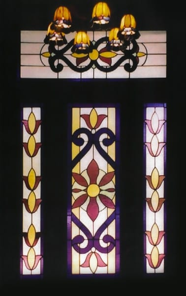 Stained Glass door design for a house