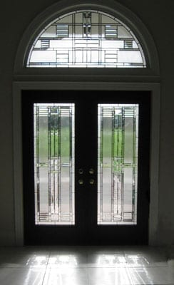Stained Glass door design at a house
